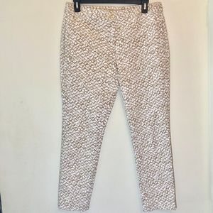 Michael Kors Pants - Michael Kors Gold and White Straight Leg Pants